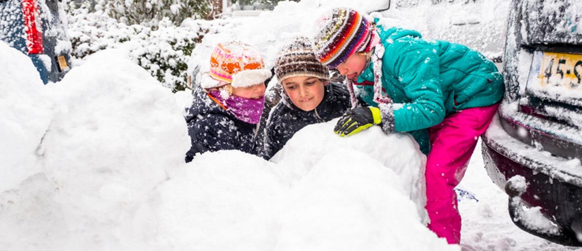 Spelen in de winter
