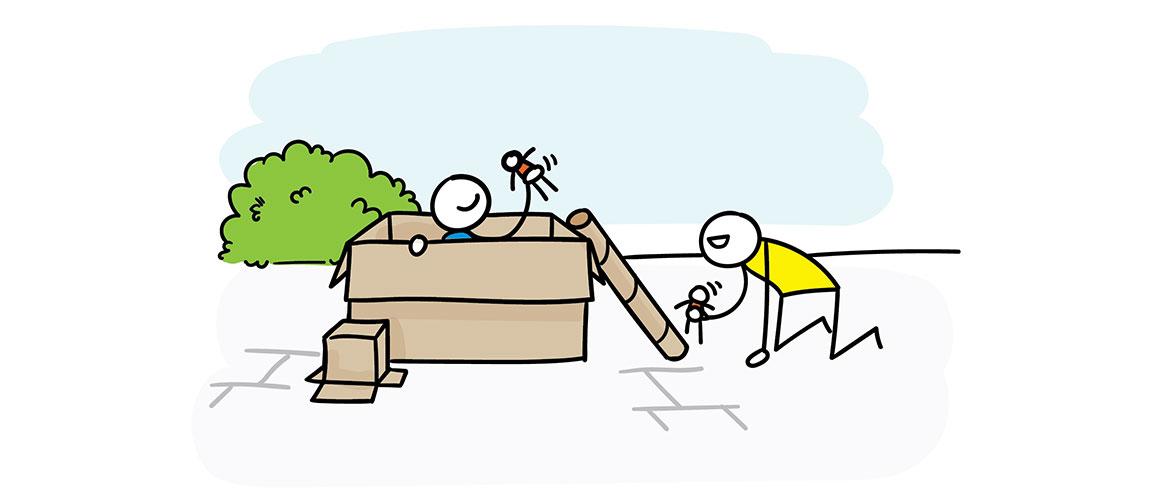 Van rommel naar speelgoed! Speeltip Speelbeweging